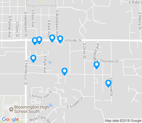 map of Barclay Gardens apartments for rent