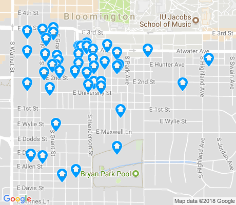 map of Elm Heights apartments for rent