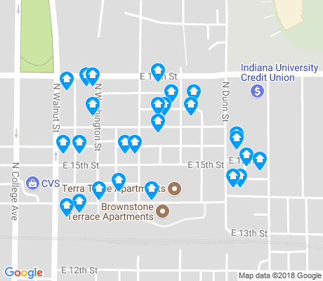 map of Garden Hill apartments for rent