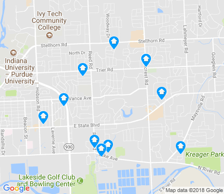 map of 46815 apartments for rent