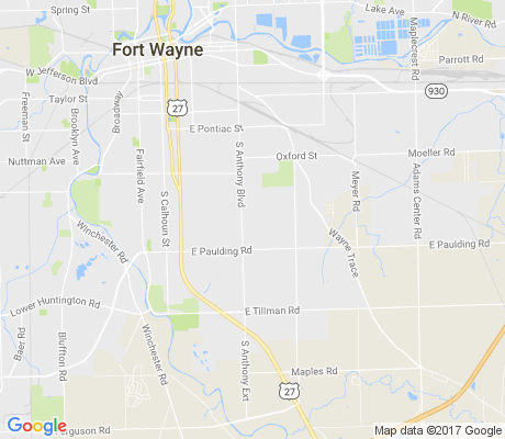 map of Anthony Wayne apartments for rent