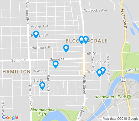 map of Bloomingdale apartments for rent