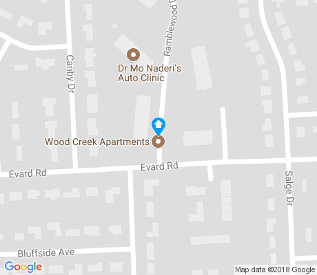 map of Brookside-Parkerdale apartments for rent