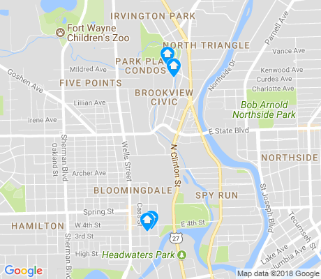 map of Brookview Civic apartments for rent