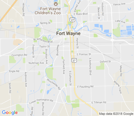 map of Fairfield apartments for rent