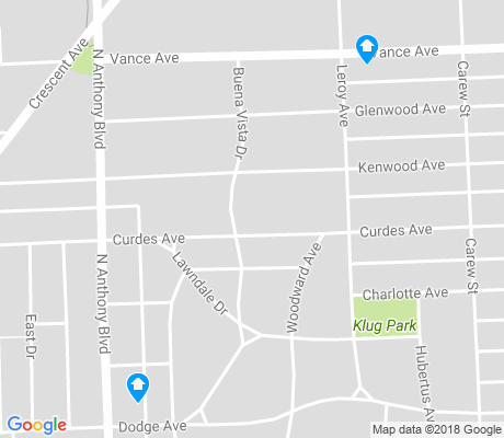 map of Frances Slocum apartments for rent