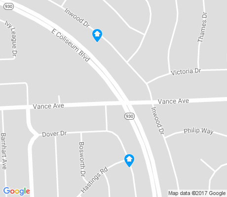 map of Glenwood Park apartments for rent
