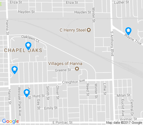 map of Hanna Creighton apartments for rent