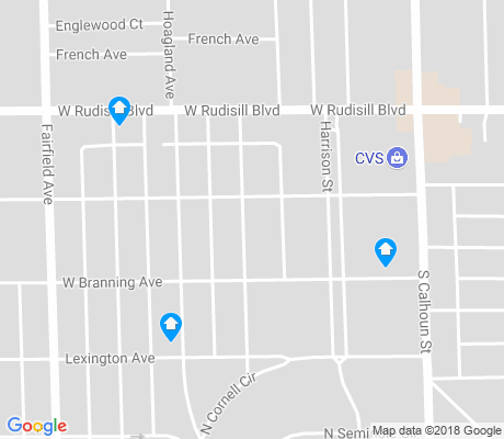 map of Harrison Hill apartments for rent