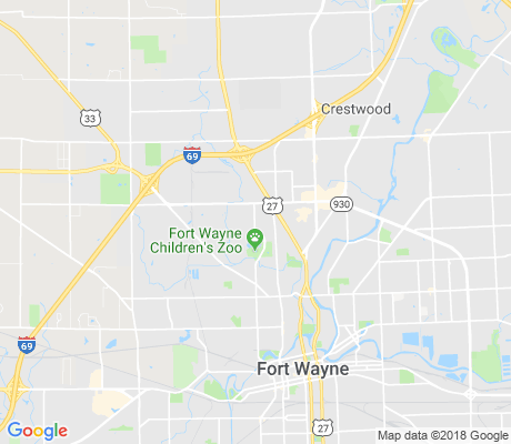 map of North Franke Park apartments for rent
