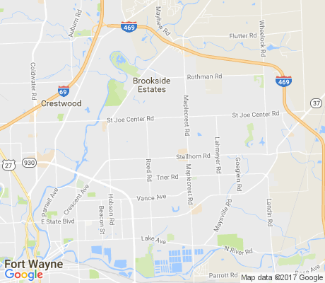map of Royal Oaks apartments for rent