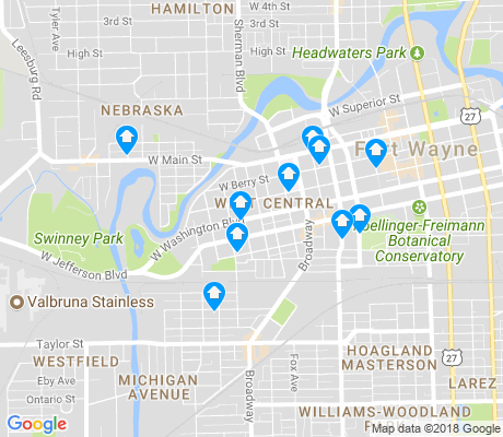 map of West Central apartments for rent