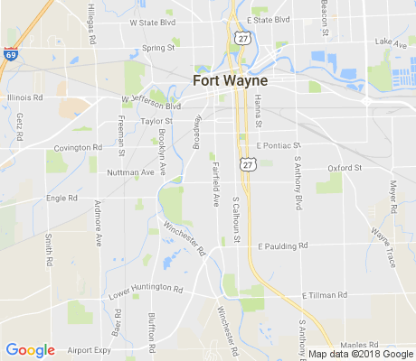 map of West Rudisill apartments for rent