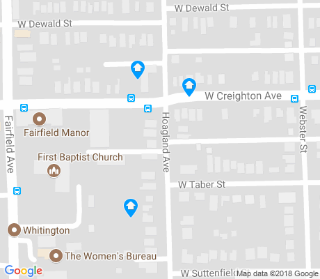 map of Williams-Woodland Park apartments for rent