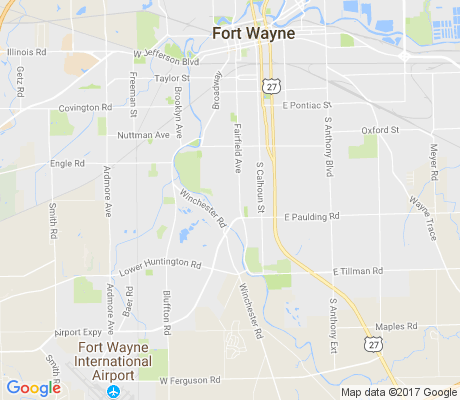 map of Woodhurst apartments for rent