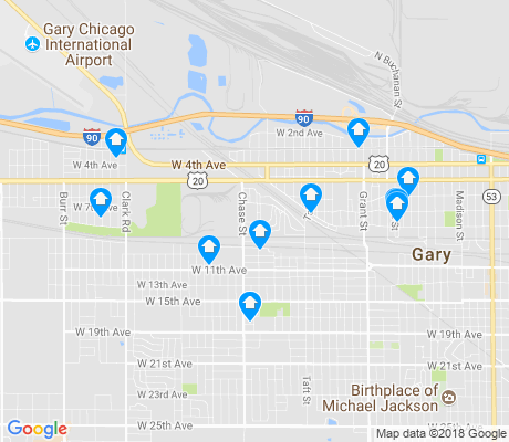 map of 46404 apartments for rent
