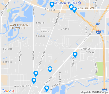 map of Allisonville apartments for rent