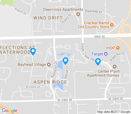 map of Aspen Ridge apartments for rent