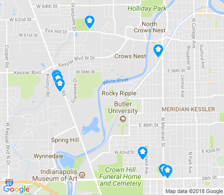map of Butler - Tarkington apartments for rent