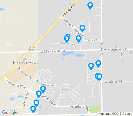 map of Camby apartments for rent