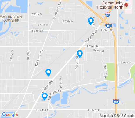 map of Devonshire apartments for rent