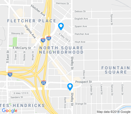 map of Fountain Square apartments for rent