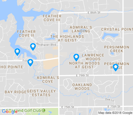 map of Geist apartments for rent