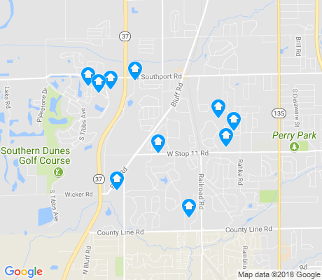 map of Glenn's Valley apartments for rent