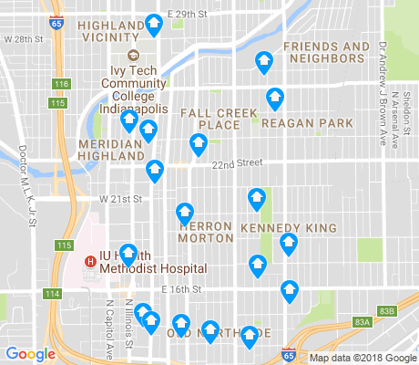 map of Near Northside apartments for rent