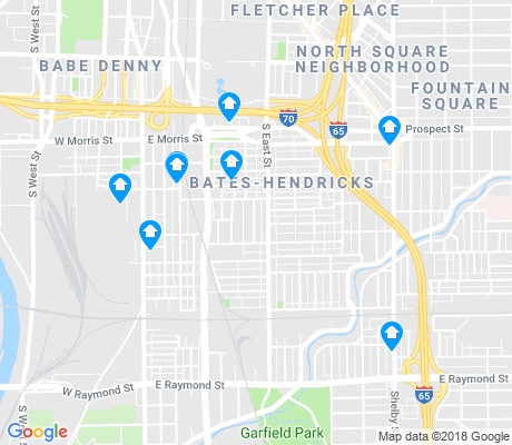 map of Near Southside apartments for rent
