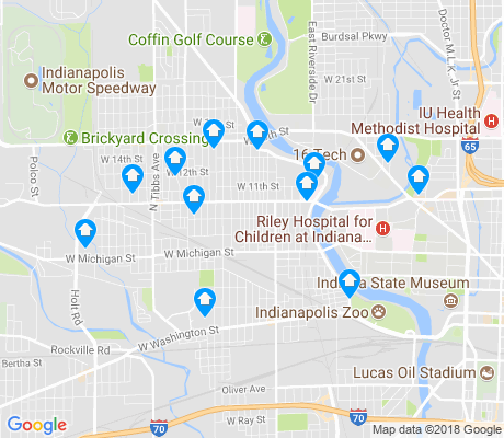 map of Near Westside apartments for rent