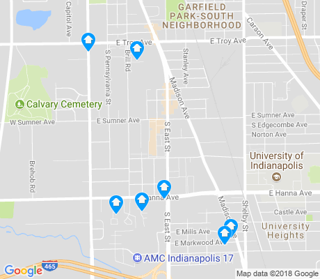 map of North Perry apartments for rent