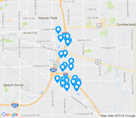 map of Raymond Park apartments for rent
