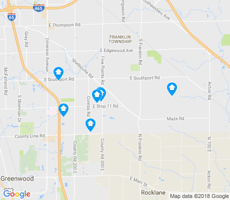 map of South Franklin apartments for rent