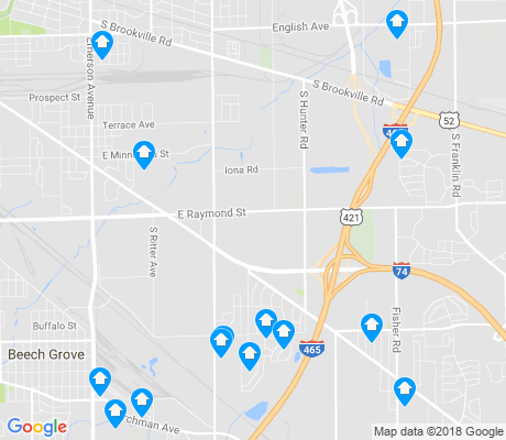 map of Southeast Indianapolis apartments for rent