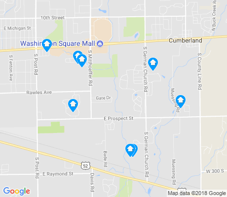 map of Southeast Warren apartments for rent
