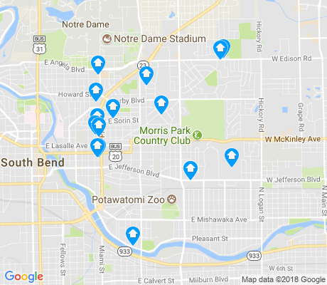 map of 46615 apartments for rent