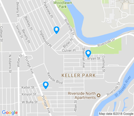 map of Keller Park apartments for rent