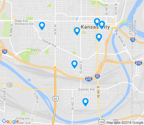 map of Armourdale apartments for rent