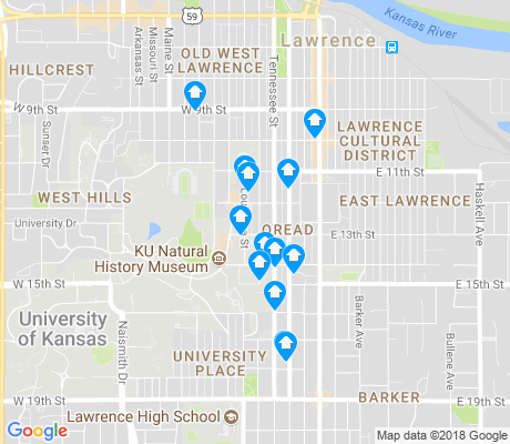 map of Oread apartments for rent