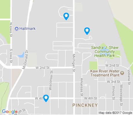 map of Pinckney apartments for rent