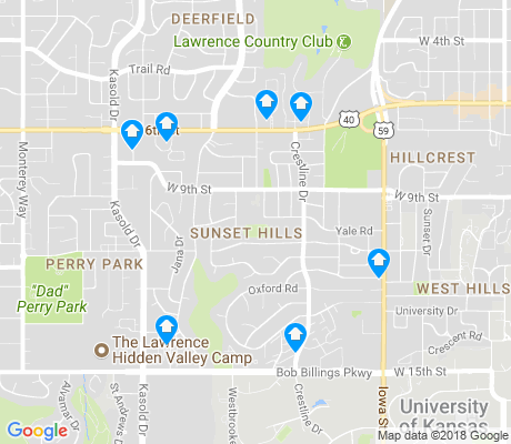 map of Sunset Hills apartments for rent