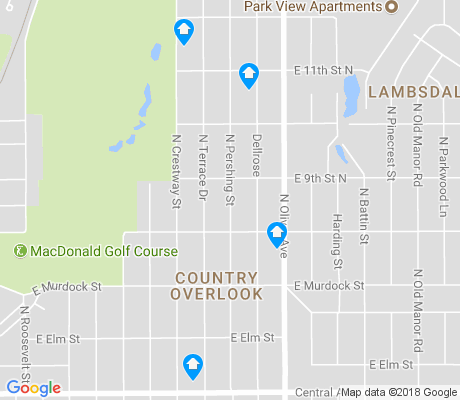 map of Country Overlook apartments for rent
