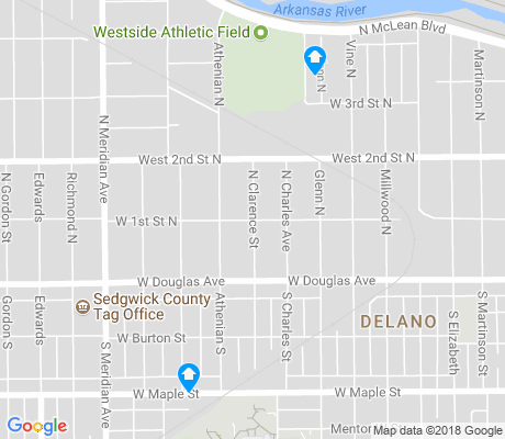 map of Delano apartments for rent