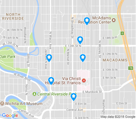 map of Historic Midtown apartments for rent