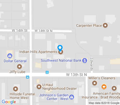 map of Indian Hills Riverbend apartments for rent