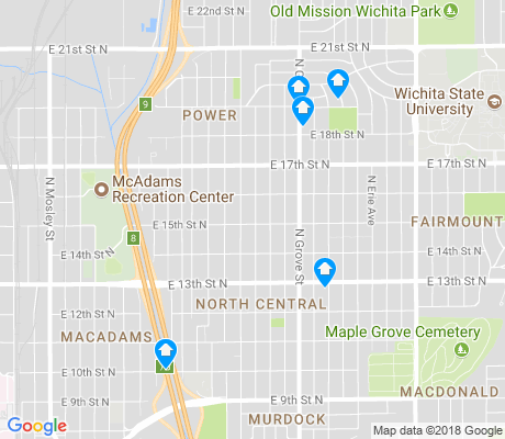 map of North Central apartments for rent
