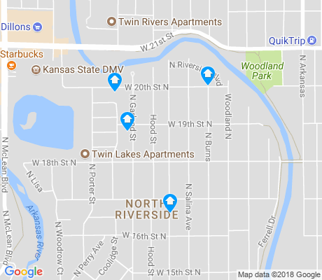 map of North Riverside apartments for rent
