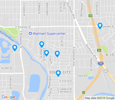 map of South City apartments for rent