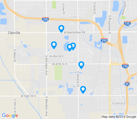 map of South Seneca apartments for rent